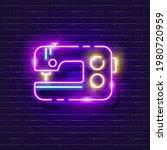 sewing machine neon sign....   Shutterstock .eps vector #1980720959