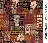 hawaiian style tribal motif...   Shutterstock .eps vector #1980725123