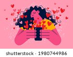 online dating and application...   Shutterstock .eps vector #1980744986