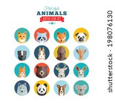 Flat Style Animals Avatar...