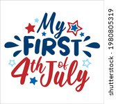 my first 4th of july lettering... | Shutterstock .eps vector #1980805319