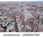 Aerial View Of Duomo Di Milano...