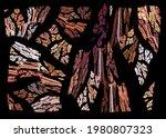 Imitation Of Cracked Tree Bark...