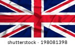 United Kingdom Flag On A Silk...