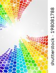 colorful and glowing background ... | Shutterstock .eps vector #198081788