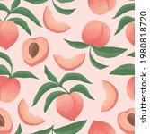peach illustration seamless...   Shutterstock .eps vector #1980818720