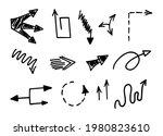 vector set of hand drawn arrows ... | Shutterstock .eps vector #1980823610