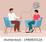psychotherapy  mental problem... | Shutterstock .eps vector #1980833126