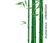 bright  background with bamboo... | Shutterstock .eps vector #198083564