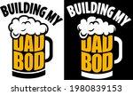 beer mug with building my dad... | Shutterstock .eps vector #1980839153