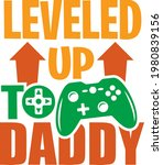 gamepad with leveled up to... | Shutterstock .eps vector #1980839156