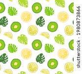 seamless texture of green... | Shutterstock .eps vector #1980873866