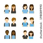 people design over white... | Shutterstock .eps vector #198089990