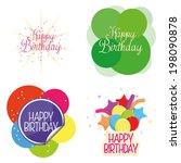 vector set of different cute... | Shutterstock .eps vector #198090878