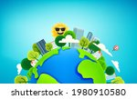 the earth with buildings and... | Shutterstock .eps vector #1980910580