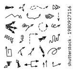 vector set of hand drawn arrows ... | Shutterstock .eps vector #1980927116