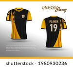 football jersey design. front...   Shutterstock .eps vector #1980930236