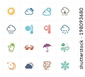 weather icons   colored series  | Shutterstock .eps vector #198093680