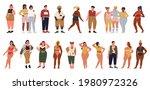 overweight people vector...   Shutterstock .eps vector #1980972326