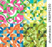 set of colorful geometric...   Shutterstock .eps vector #1980991250