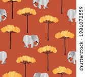 seamless african pattern with... | Shutterstock .eps vector #1981072559
