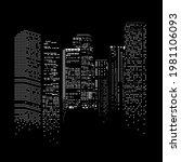 city scape in night creative... | Shutterstock .eps vector #1981106093