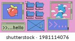 retro vaporwave desktop with...