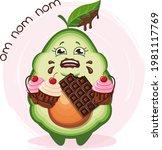 Cute Fat Avocado Character...