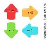 funny cute happy arrows...   Shutterstock .eps vector #1981121576