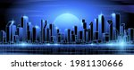 night futuristic city with... | Shutterstock .eps vector #1981130666