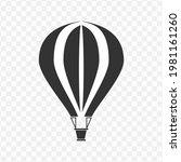 transparent air balloon icon...