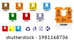 set of plastic clip bread bag... | Shutterstock .eps vector #1981168736
