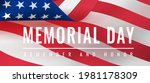 memorial day   remember and... | Shutterstock .eps vector #1981178309