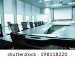business meeting room or board... | Shutterstock . vector #198118220