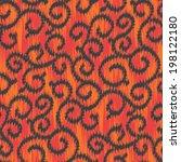 seamless swirly loops ikat...   Shutterstock .eps vector #198122180