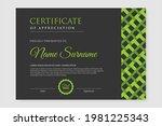dark certificate design with... | Shutterstock .eps vector #1981225343