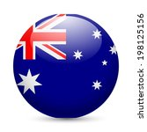 flag of australia as round... | Shutterstock .eps vector #198125156