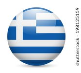 Flag Of Greece As Round Glossy...