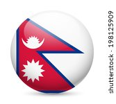 Flag Of Nepal As Round Glossy...