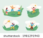 the children are playing with...   Shutterstock .eps vector #1981291943