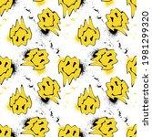 seamless yellow distorted... | Shutterstock .eps vector #1981299320