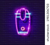 electric coffee grinder neon...   Shutterstock .eps vector #1981306703