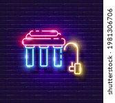 water filter neon sign. reverse ...   Shutterstock .eps vector #1981306706