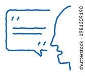 human speaking sketch icon...   Shutterstock .eps vector #1981309190