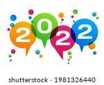 creative text 2022 with balloon | Shutterstock .eps vector #1981326440