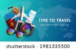 travel time vector banner... | Shutterstock .eps vector #1981335500