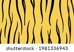 minimal black and yellow animal ...   Shutterstock .eps vector #1981336943