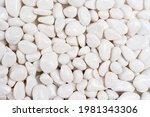 Close Up Of Few White Stones ...
