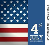 happy independence day poster ... | Shutterstock .eps vector #198134516
