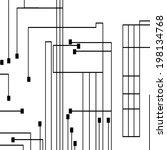circuit board background ... | Shutterstock .eps vector #198134768